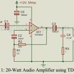 20-Watt Audio Amplifier using TDA2003