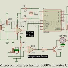 Microcontroller Based Inverter Circuit Diagram Horse Skull 3000w With Inbuilt Charger Using At89c2051