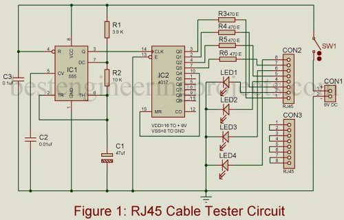small resolution of rj45 network cable tester circuit schematic data schematic diagram cable tester circuit moreover diagram of a cable tester schematic on