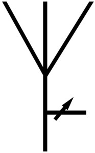 symbol of adjustable azimuth radiation antenna