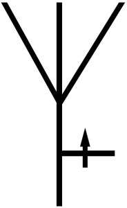 symbol of adjustable elevation radiation antenna