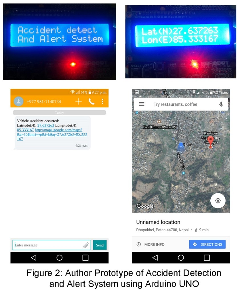 Accident detection Alert System by using Gps and Gsm