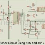 CCTV Switcher Circuit using Timer IC 555