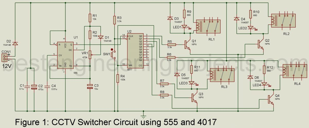 how to use ic 555 ic circuit as timer