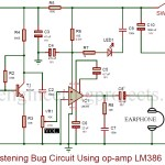 Listening Bug Circuit using op-amp LM386
