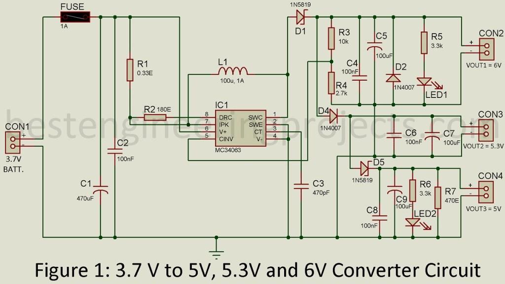 3.7v to 5v converter circuit