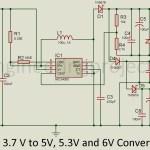 3.7V to 5V, 5.3V and 6V Converter Circuit