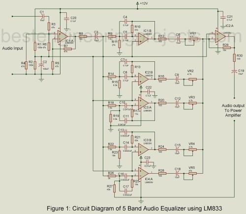 small resolution of also lifier circuit diagram also 10 band graphic equalizer circuit 5 band audio equalizer circuit using