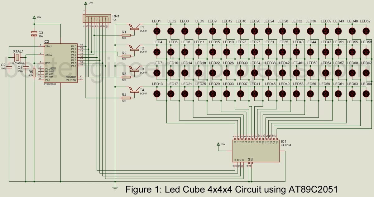 engineering process diagram d85 digital meter wiring led cube 4x4x4 circuit using at89c2051 - best projects