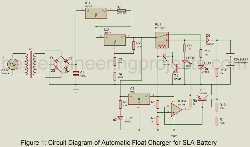 medium resolution of 12v battery charger circuit with overcharge protection