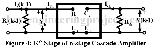 kth stage of n stage cascade amplifier