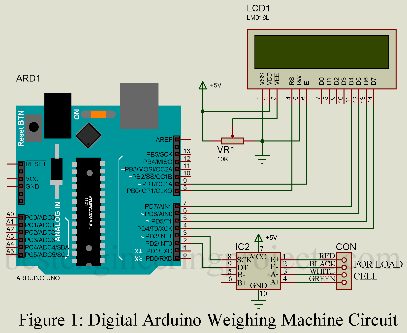 hight resolution of arduino weighing machine using hx711