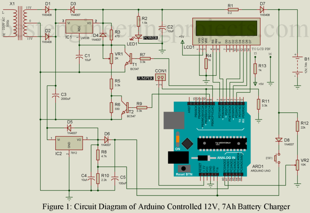 medium resolution of circuit diagram of arduino controlled 12v battery charger