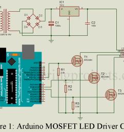 arduino mosfet led driver circuit [ 1023 x 777 Pixel ]