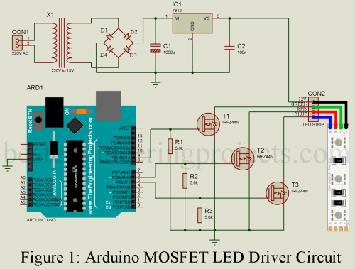 small resolution of arduino mosfet led driver circuit