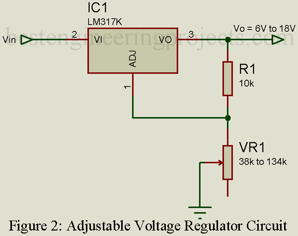 Figure 1 Voltage Regulation Circuitcourtesy National Semiconductor