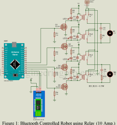 four digital pins of arduino nano is used to trigger the gate of mosfet q1 through q4 as shown in circuit diagram these four mosfets drive four relay  [ 1088 x 1200 Pixel ]