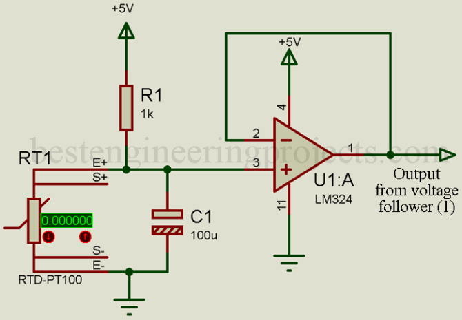 measuring temperature using pt100 and arduino  engineering