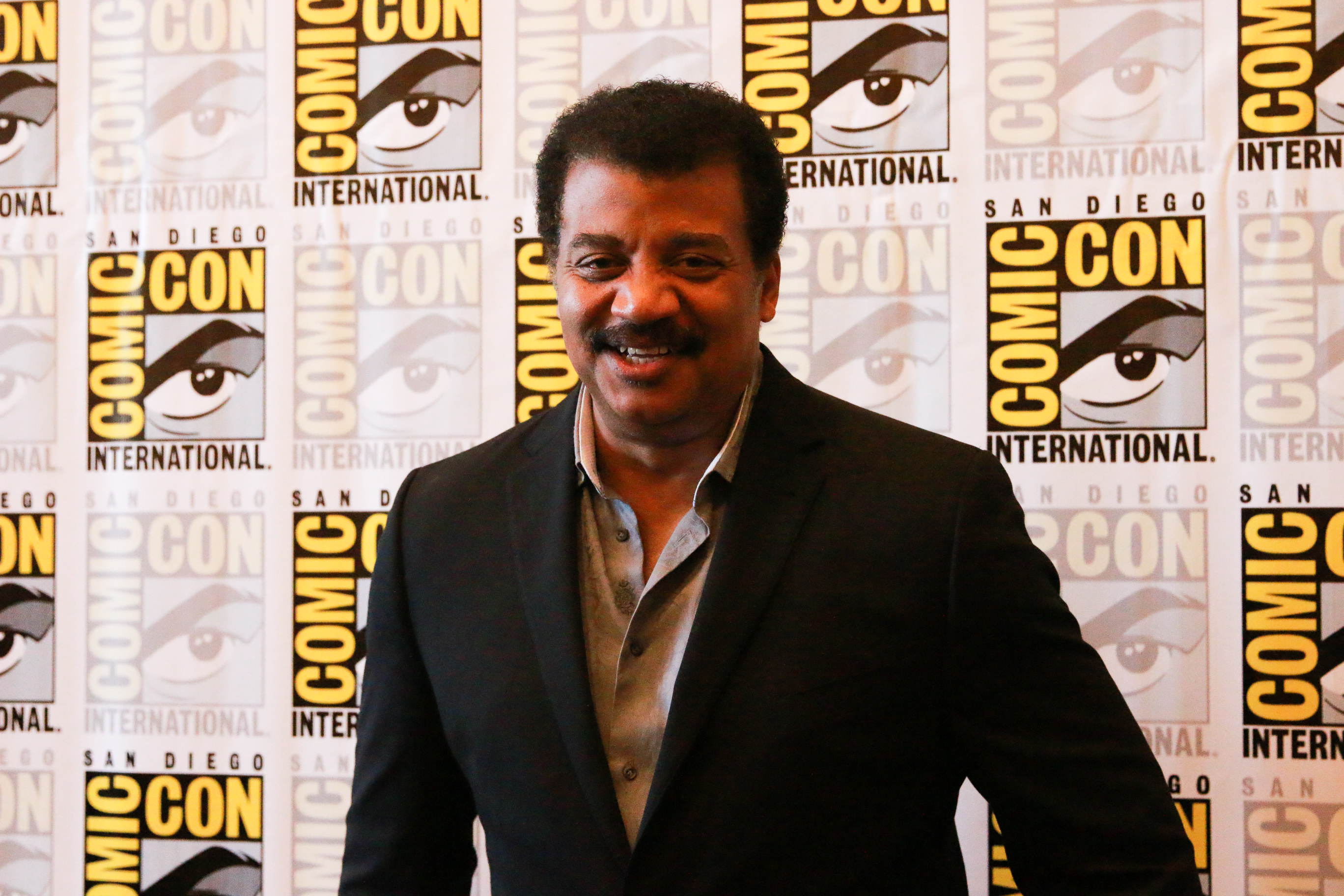 Neil deGrasse Tyson at San Diego Comic Con 2018 | pc: Alyssa Rasmus/Pink Camera Media