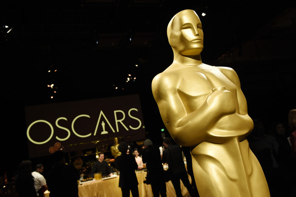 An Oscar statue is pictured at the press preview for the 91st Academy Awards Governors Ball, Friday, Feb. 15, 2019, in Los Angeles. The 91st Academy Awards will be held on Sunday, Feb. 24. at the Dolby Theatre in Los Angeles. (Photo by Chris Pizzello/Invision/AP)