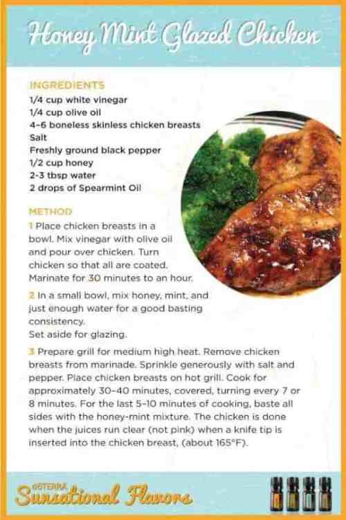 doTERRA Honey Mint Glazed Chicken Recipe
