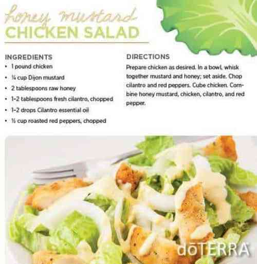 doTERRA Honey Mustard Chicken Salad Recipe