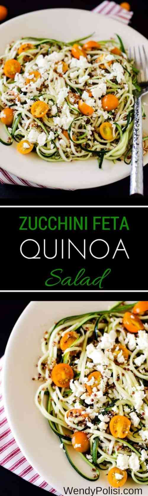 doTERRA Zucchini Feta Quinoa Salad with Lemon Dill Dressing Recipe