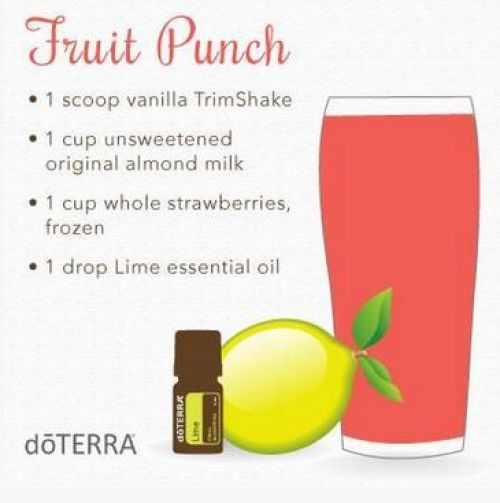 doTERRA Fruit Punch Trim Shake Recipe