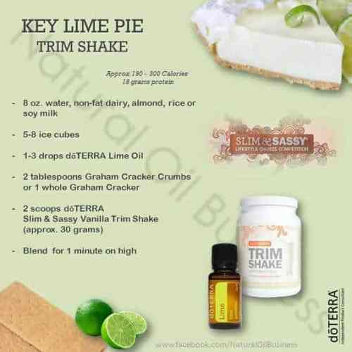 doTERRA Key Lime Pie Trim Shake Recipe