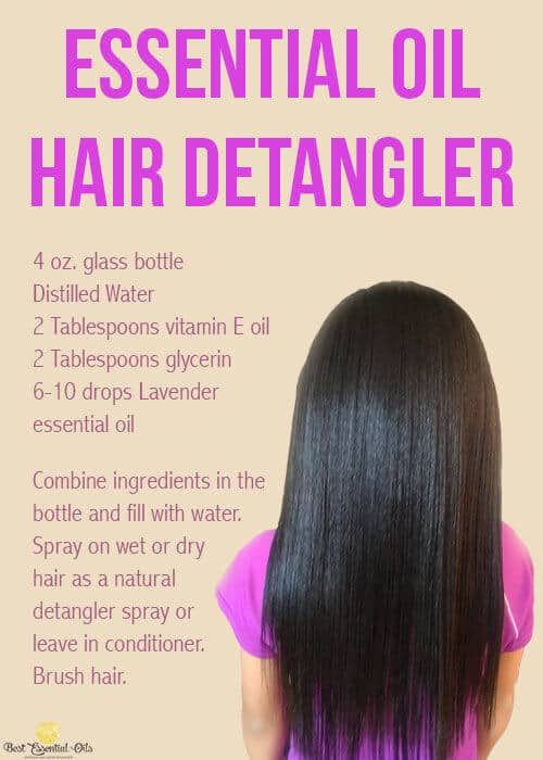 doTERRA Essential Oil Hair Detangler Recipe