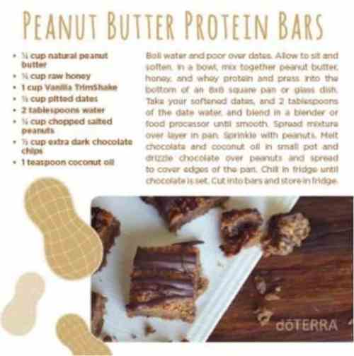 doTERRA Peanut Butter Protein Bars Recipe