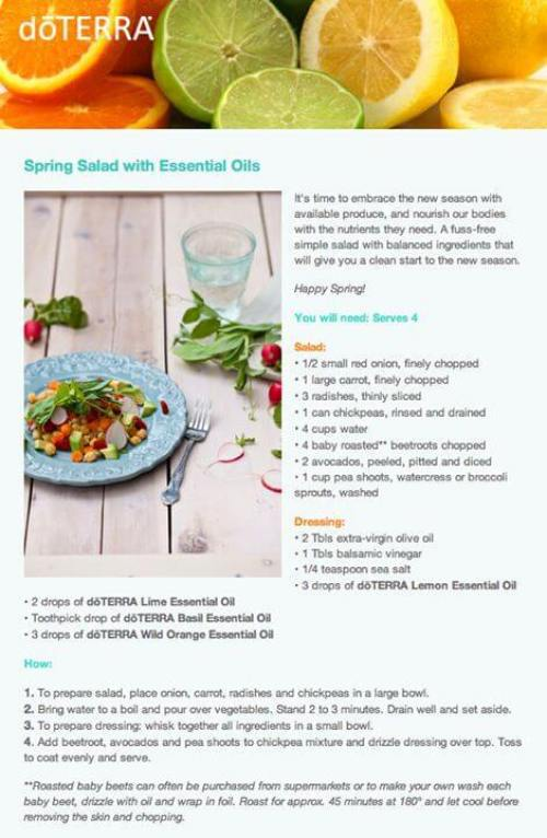 doTERRA Spring Salad with Essential Oils