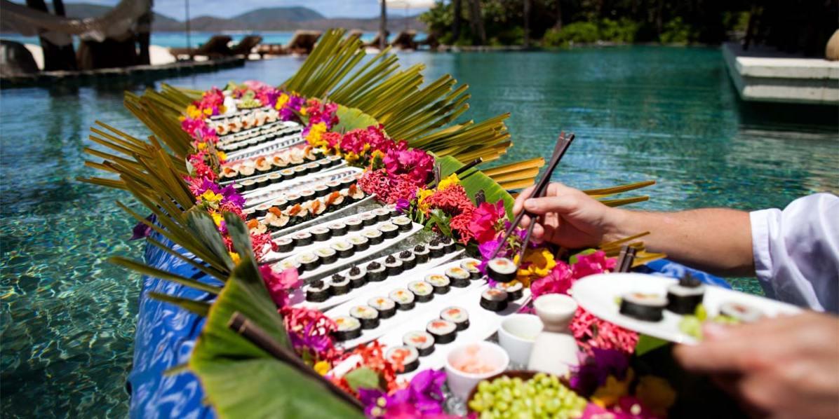 Sushi Indulgence, Best Tropical Island Venue, Necker Island, British Virgin Islands, Caribbean, Prestigious Venues