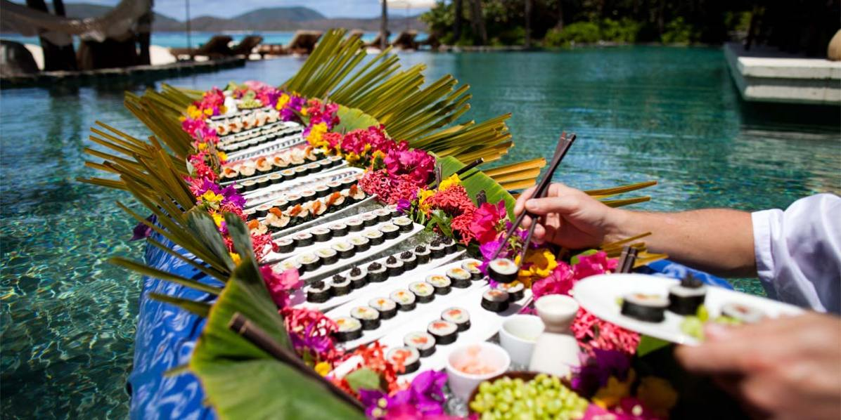 Sushi Indulgence, Best Tropical Island Venue, Necker Island, British Virgin Islands, Caribbean, Prestigious Venues