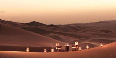 Luxury Desert Dining, Qasr Al Sarab, Prestigious Venues