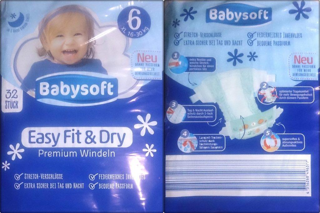 Testpackung Babysoft Easy Fit & Dry Premium Windeln 6 XL