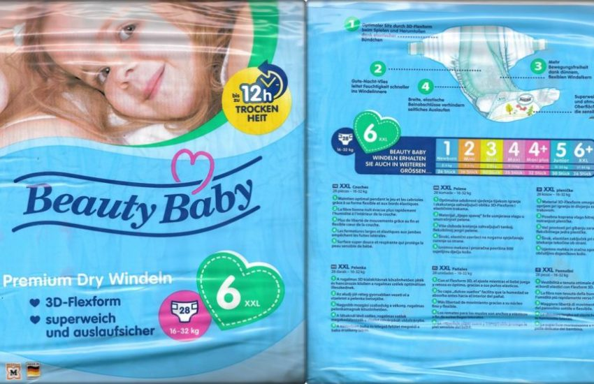 Testpackung Beauty Baby Premium Dry Windeln 6 XXL
