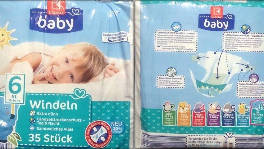 Testpackung K-Classic Baby Windeln Größe 6 XL