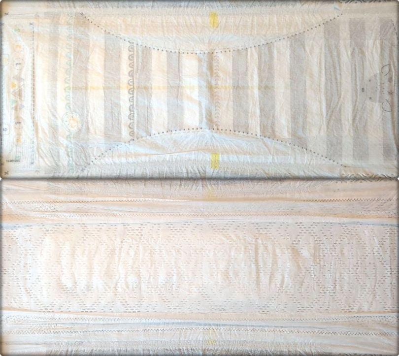 Gesamte Innen- und Außenansicht der Pampers premium protection Größe 6