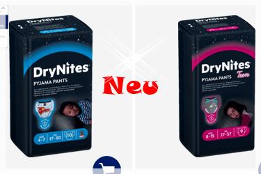 Neue DryNites für Mädchen und Jungen bei dm erhältlich