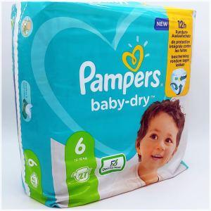 Einzelpack Pampers baby-dry Größe 6 Vorderseite