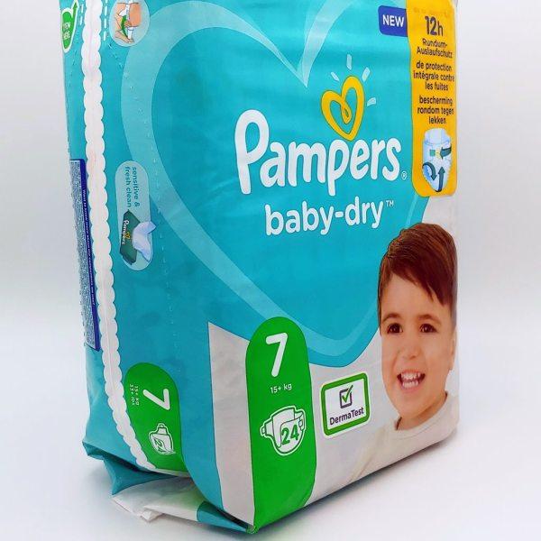Einzelpack Pampers baby-dry Größe 7 Vorderseite