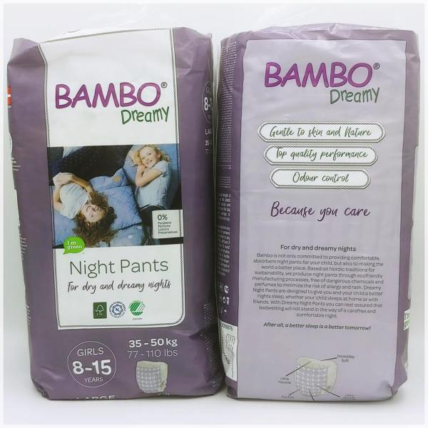 Einzelpackung Bambo Dreamy Night Pants Girls 8-15 Years Cover Vorderseite