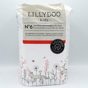 Einzelpackung Vorderseite der Lillydoo Pants 6 und 7 (Hier Größe 6)
