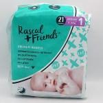 Verpackungsvorderseite der Rascal and Friends Windeln im Test der Windeln für Neugeborene