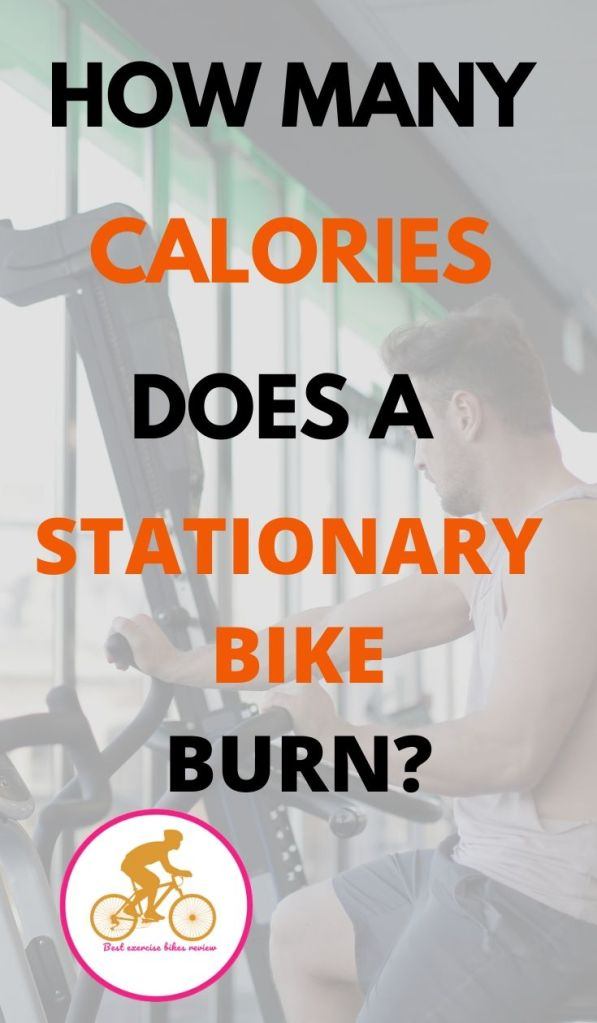 For How many calories does a stationary bike burn?