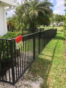an aluminum fence installed in san antonio