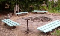 Bench Around Fire Pit | Fire Pit Design Ideas
