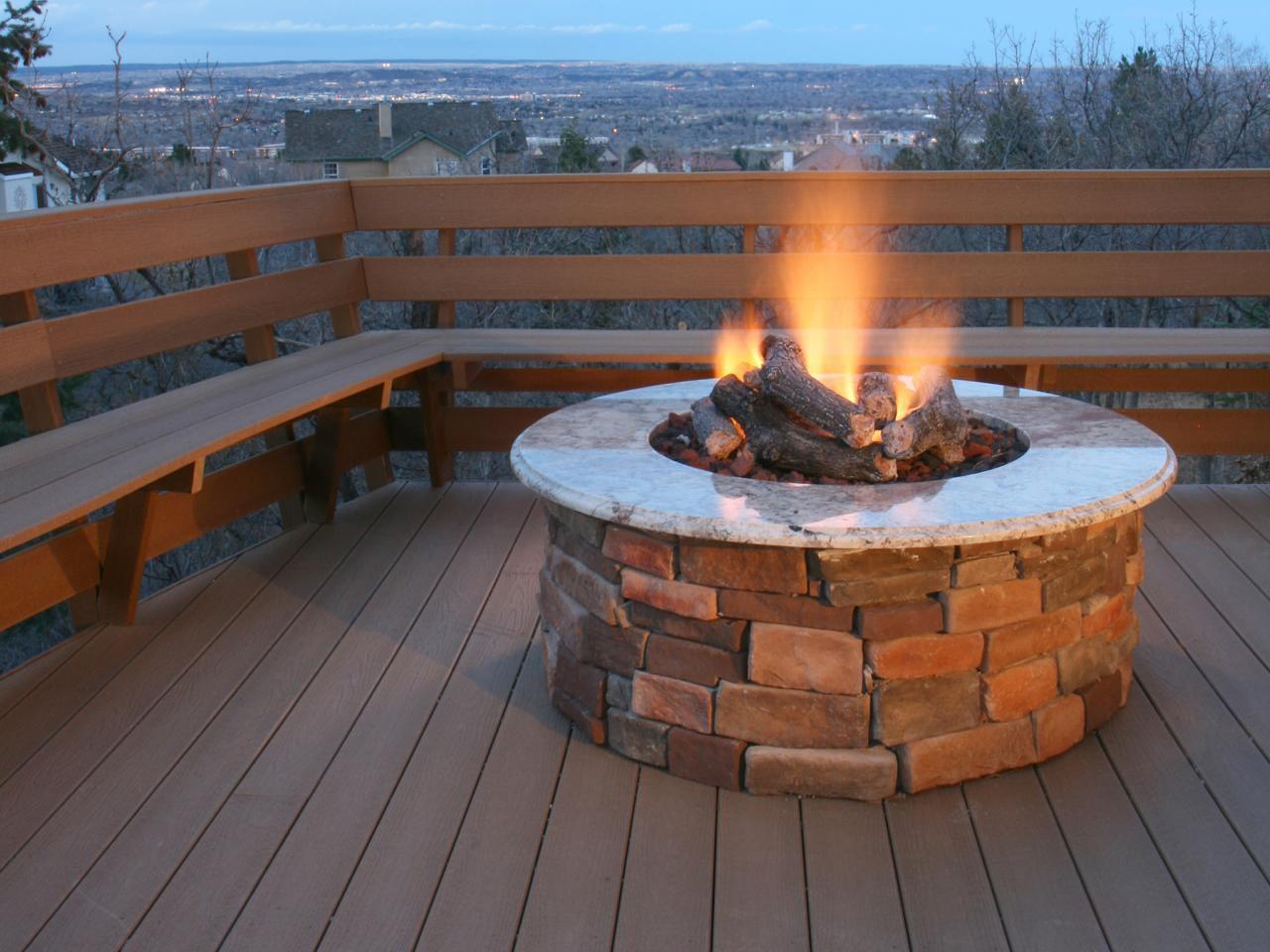 Concrete Gas Fire Pit  Fire Pit Design Ideas