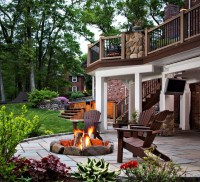 Fire Pit On Wood Deck | Fire Pit Design Ideas